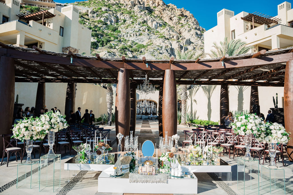 Persian Wedding in Los Cabos Mexico. Destination Wedding at the Waldorf Astoria. Wedding planning was done by Cabo Wedding Services.