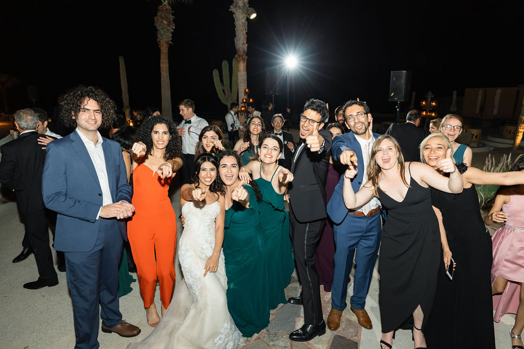 Wedding guests at the end of the night at a Destination Wedding in Los Cabos Mexico. This wedding was at the Waldorf Astoria. Wedding Planning was done by Jessica Wolff