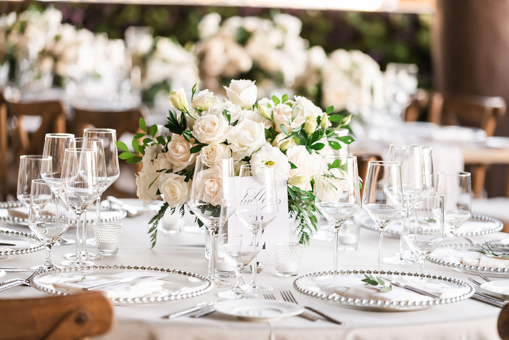Table centerpieces at the Waldorf Astoria in Los Cabos Mexico. Wedding Planning was done by Cabo Wedding Services, in Los Cabos Mexico. Destination Wedding Planning done by Jessica Wolff